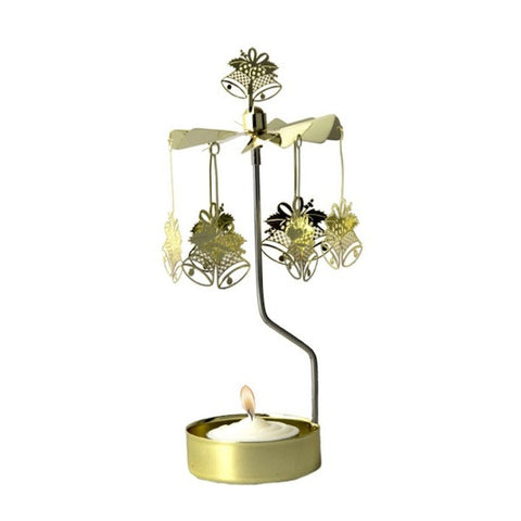 Rotary Candle Holder Bells Gold