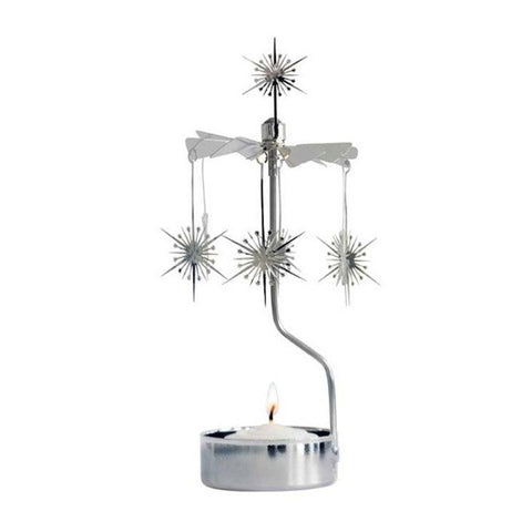 Rotary Candle holder Shimmering Star