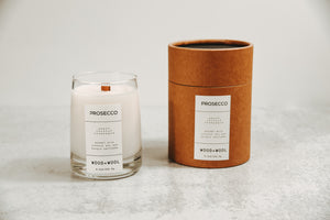 Luxe Wood Wick Candle | Prosecco