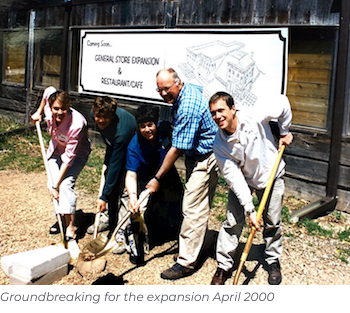 Groundbreaking for the expansion April 2000