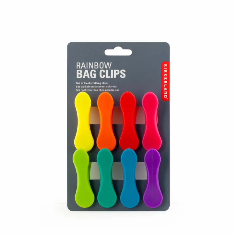 Rainbow Bag Clips by Kikkerland Design
