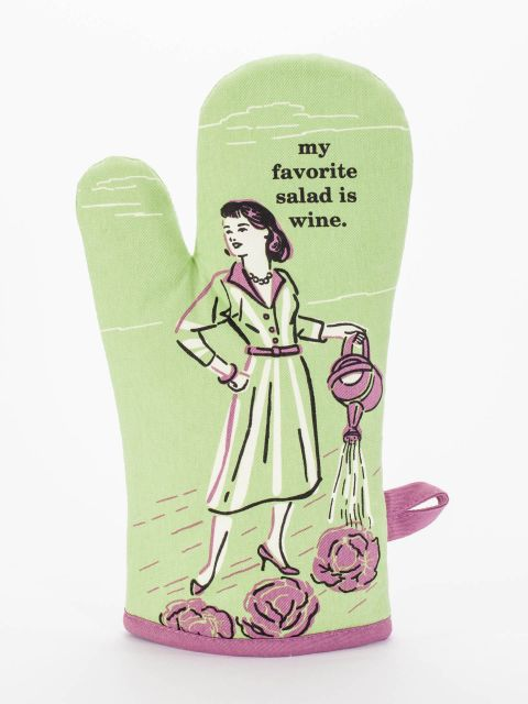 My Favorite Salad Is Wine Oven Mitt by Blue Q