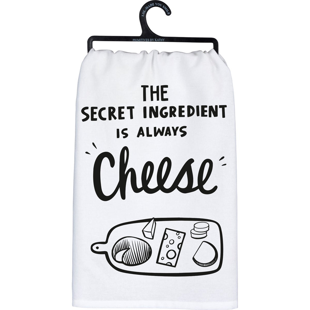 Secret Ingredient Is Always Cheese Dish Towel by Primitives By Kathy