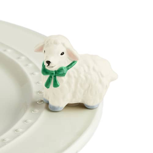 I Love Ewe! Lamb Mini Knob by Nora Fleming