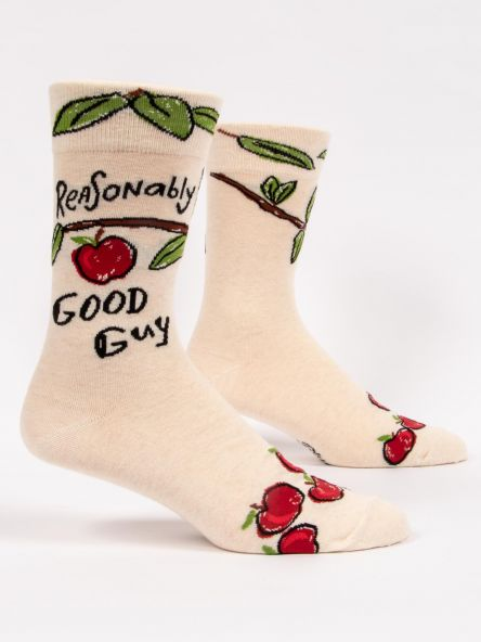REASONABLY GOOD GUY MEN'S-CREW SOCKS by Blue Q