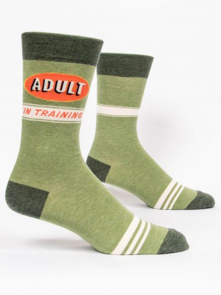 ADULT IN TRAINING MEN'S-CREW SOCKS by Blue Q