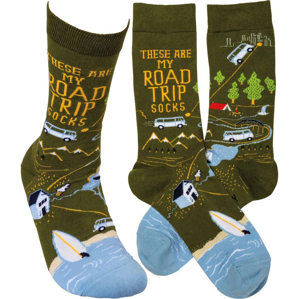 These Are My Road Trip Socks Socks by Primitives By Kathy