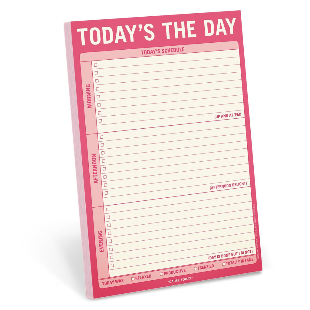 Today's The Day Pad by Knock Knock