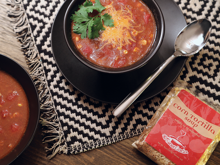 Corn Tortilla Soup by The Secret Garden Gourmet