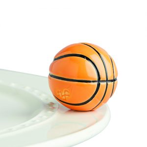 Hoop There It Is Basketball Mini Knob by Nora Flemingby Nora Fleming