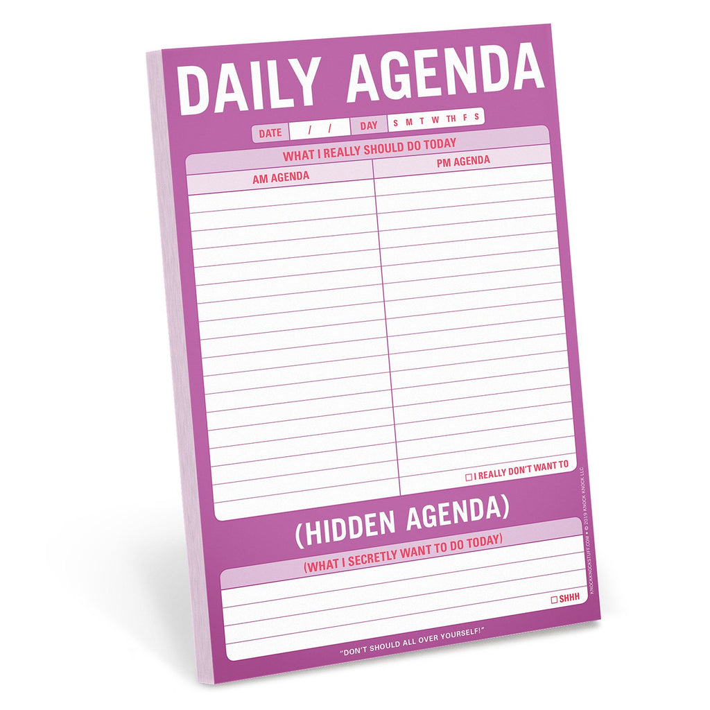Daily Agenda Pad by Knock Knock