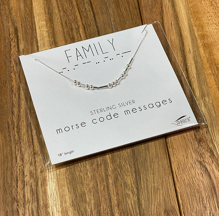 Family Morse Code Necklace