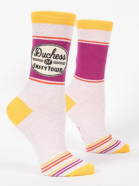 DUCHESS OF SASSYTOWN W-CREW SOCKS by Blue Q