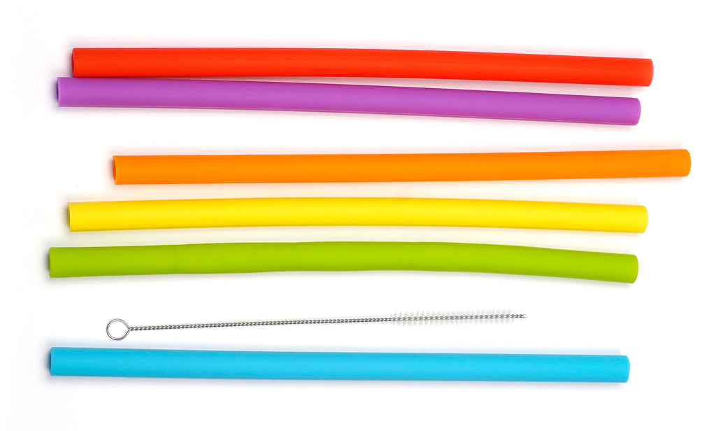 Silicone Smoothie Straws by RSVP International