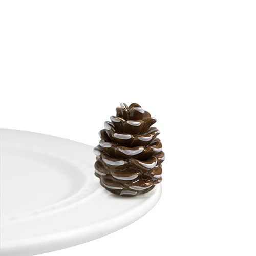 Pretty Pinecone Mini Knob by Nora Fleming