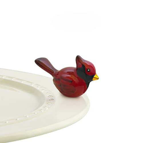 Winter Songbird Cardinal Mini Knob by Nora Fleming