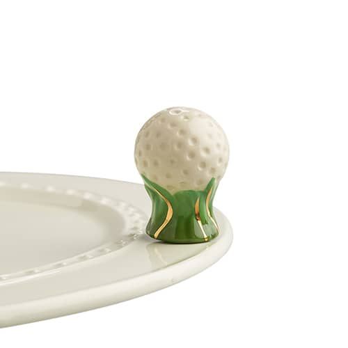 Hole In One Golf Ball Mini Knob by Nora Fleming