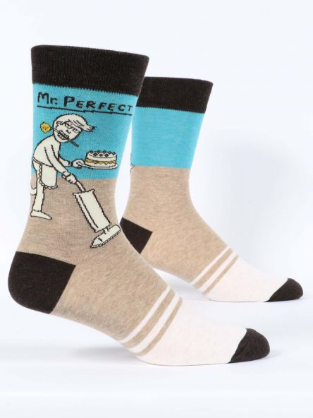 MR. PERFECT MEN'S-CREW SOCKS by Blue Q