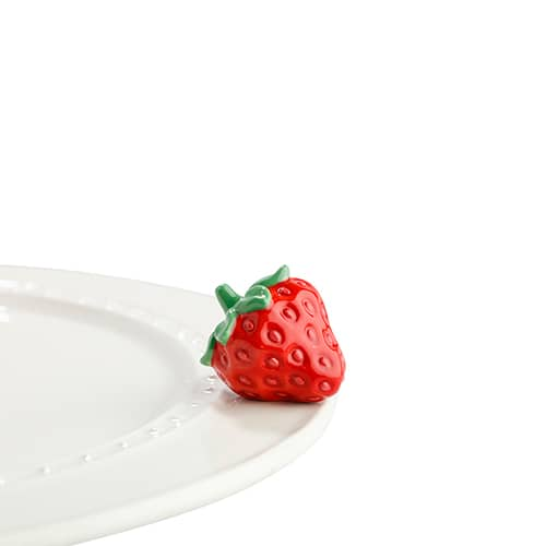 Juicy Fruit Strawberry Mini Knob by Nora Fleming