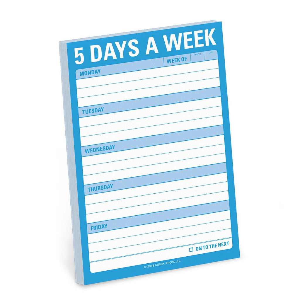 5 Days A Week Great Big Sticky Notes by Knock Knock