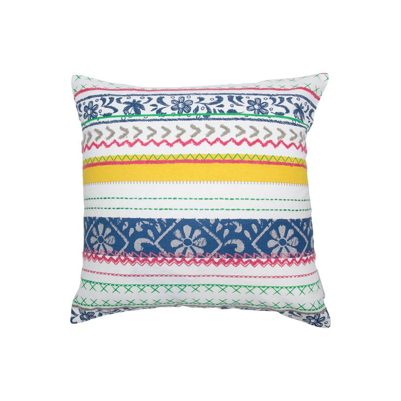 Floral Stripe Pillow
