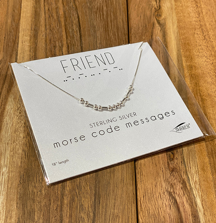 Friend Morse Code Necklace