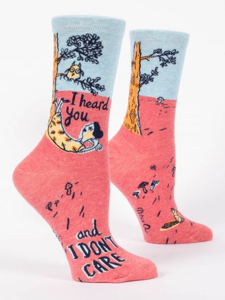 I HEARD YOU AND I DON'T CARE W-CREW SOCKS by Blue Q