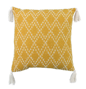 Yellow Diamond Pillow