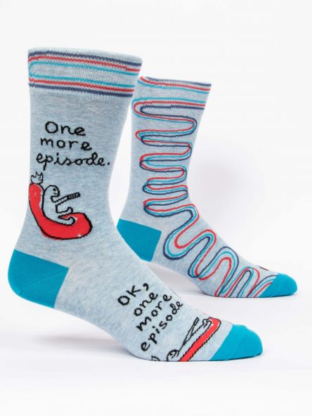 ONE MORE EPISODE MEN'S-CREW SOCKS by Blue Q