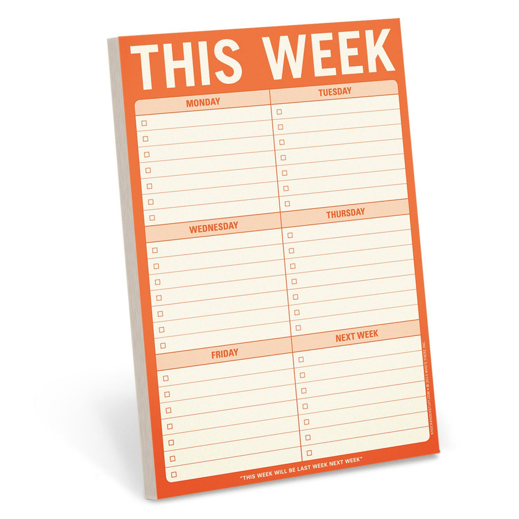 This Week Note Pad by Knock Knock