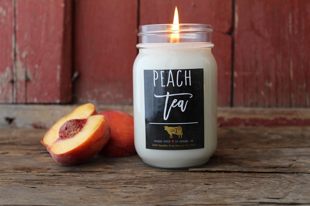 13 oz Peach Tea Candle by Milkhouse Candle co.