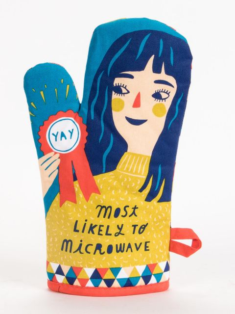 Most Likely To Microwave Oven Mitt by Blue Q