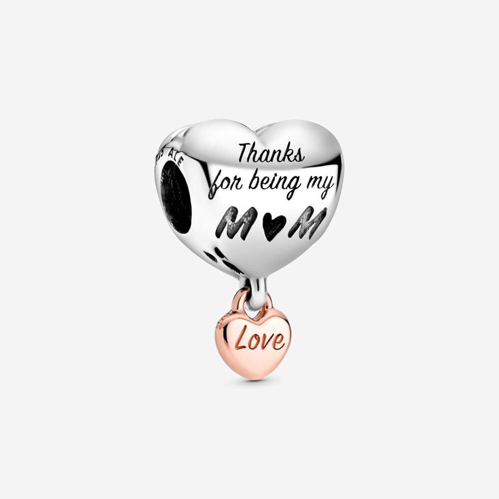 Love You Mom Heart Charm by Pandora