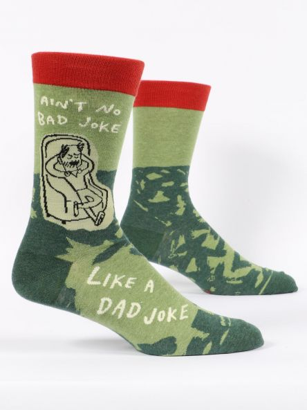 AIN'T NO BAD JOKE LIKE A DAD JOKE MEN'S-CREW SOCKS by Blue Q