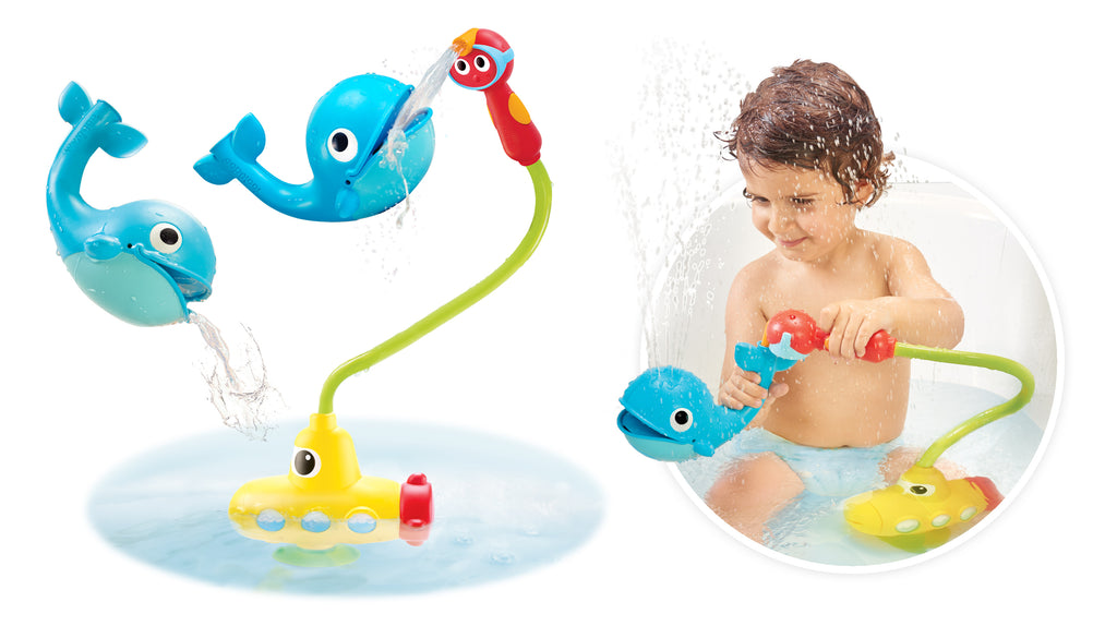 Submarine Spray Whale Bath Toy