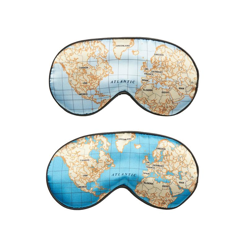 Maps Ultra Soft Sleep Mask by Kikkerland Design