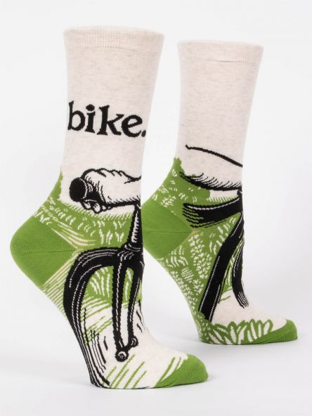 BIKE PATH W-CREW SOCKS by Blue Q