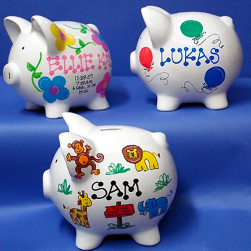 Personalized Piggy Bank by General Store of Minnetonka