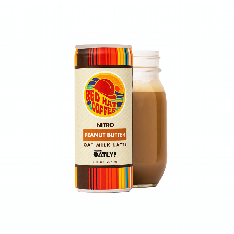 Peanut Butter Flavor (12 pack) - Cold Brew Coffee Oatmilk Latte