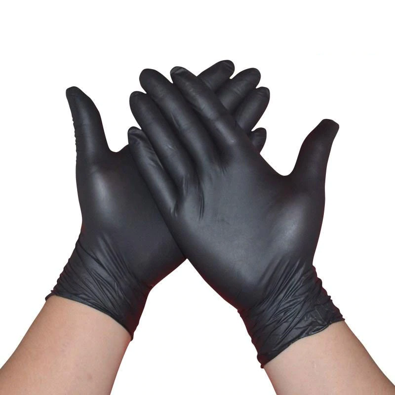100pcs Black Disposable Gloves