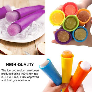 Colorful Silicone - Ice Pop Mold Set