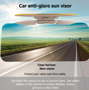 2 in 1 Car Sun Visor Day Night HD Anti Glare Dazzling Goggle Driving Sunshade Mirror