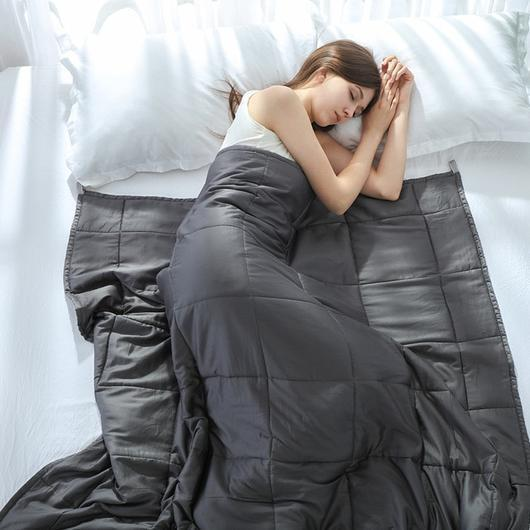 Improve Sleep by 83% Weighted/Gravity Blanket.