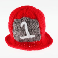 Baby Firefighter Crochet Outfit Hat Boots Gender: Unisex Age: 0-3 months  Material: Cotton, Acrylic