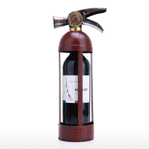 Fire extinguisher wine bottle holder. Stylish, rustic … a great gift!