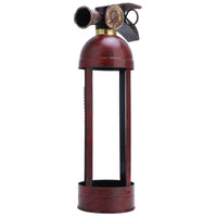 Stylish, simple, rustic fire extinguisher bottle holder.