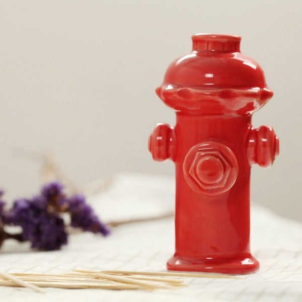 Firefighter Red Fire Hydrant Toothpick Box for the Fire Station