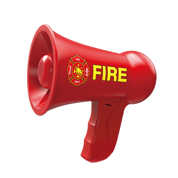 Toy Firefighter Fireman Bullhorn Megaphone Red