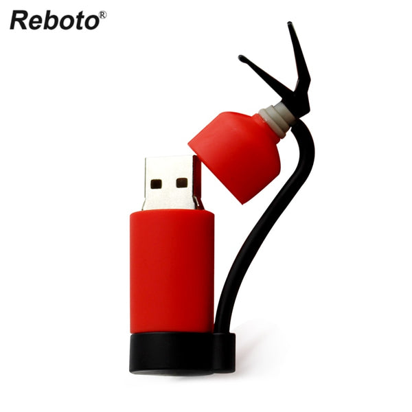 Firefighter Fireman USB red black tech