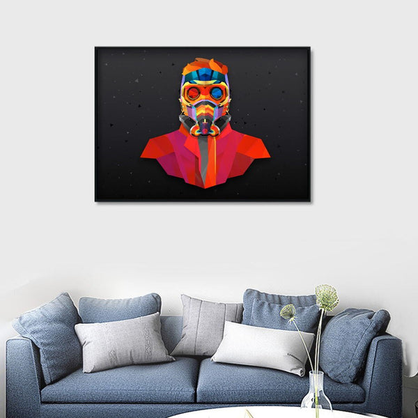 Fireman Firefighter Hero Wall Art Canvas Painting Abstract Modern